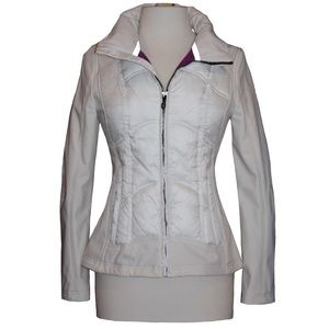 Guess Jacket Ivory Nwt Sz Small Front Zipper